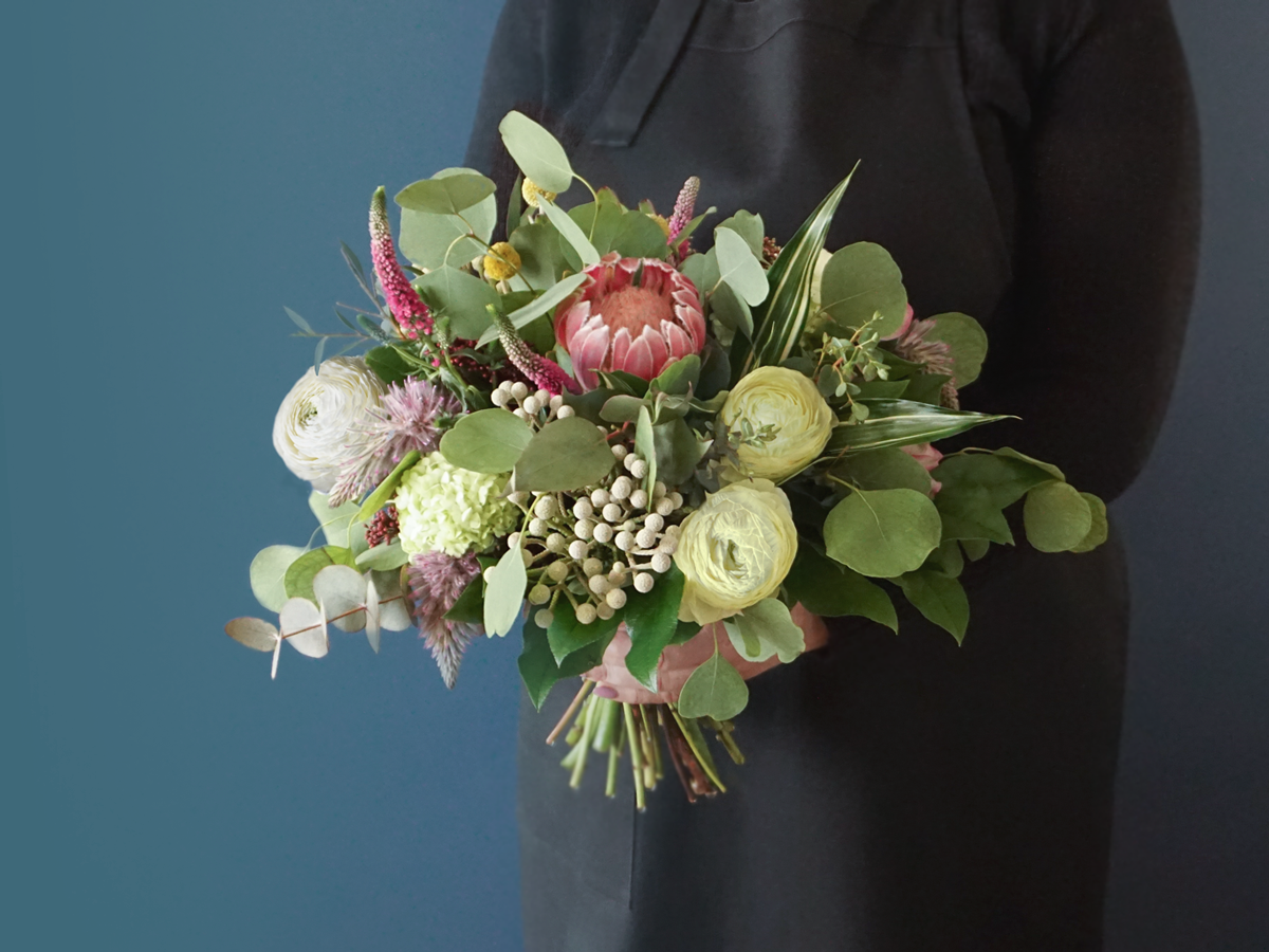 Bouquet of exotic flowers / 01 /