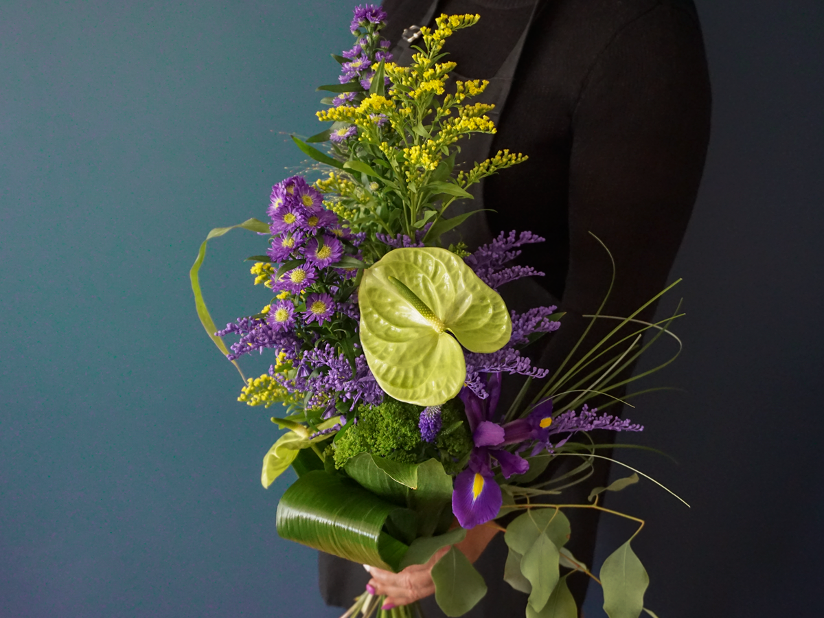 Flower bouquet with anthuriums