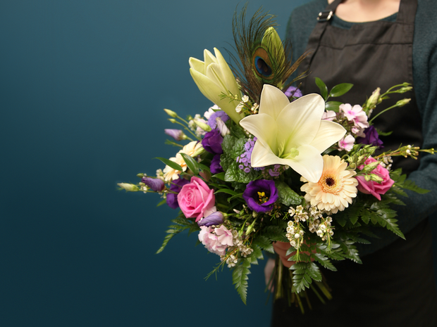 Bouquet of flowers with lily / 01 /