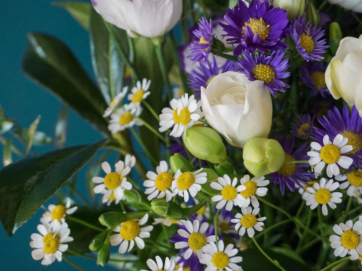Bouquet of flowers with lysants