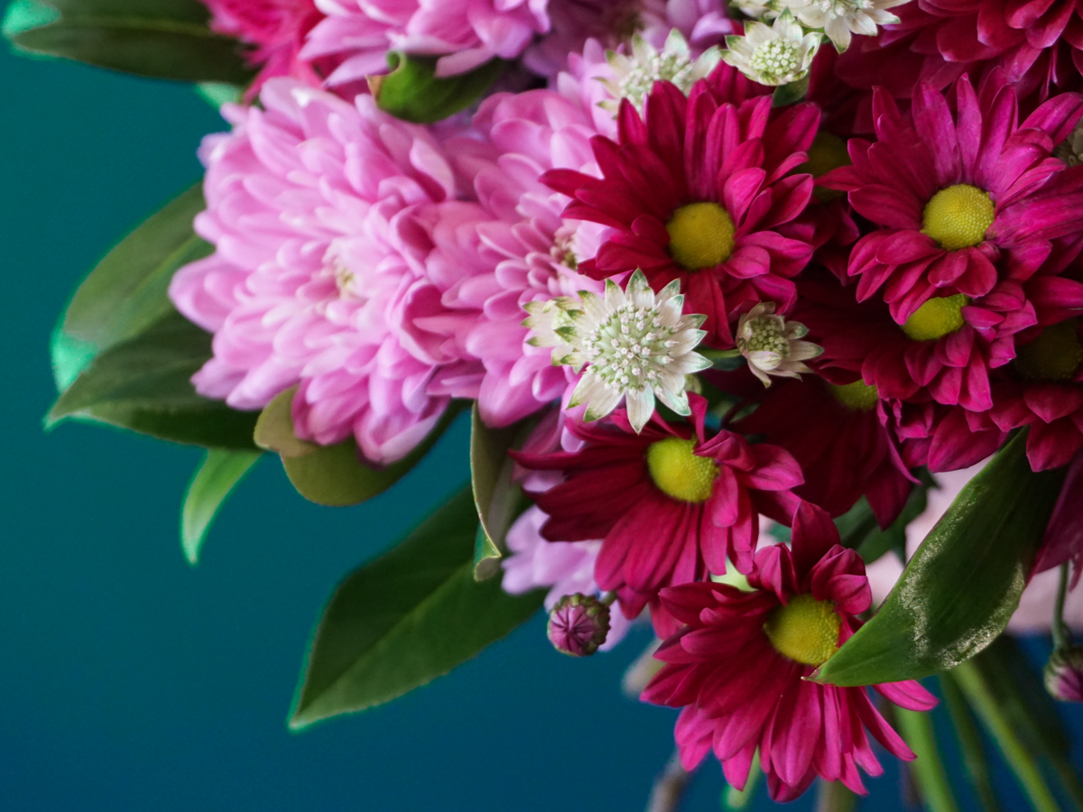 Bouquet of flowers with chrysanthemums
