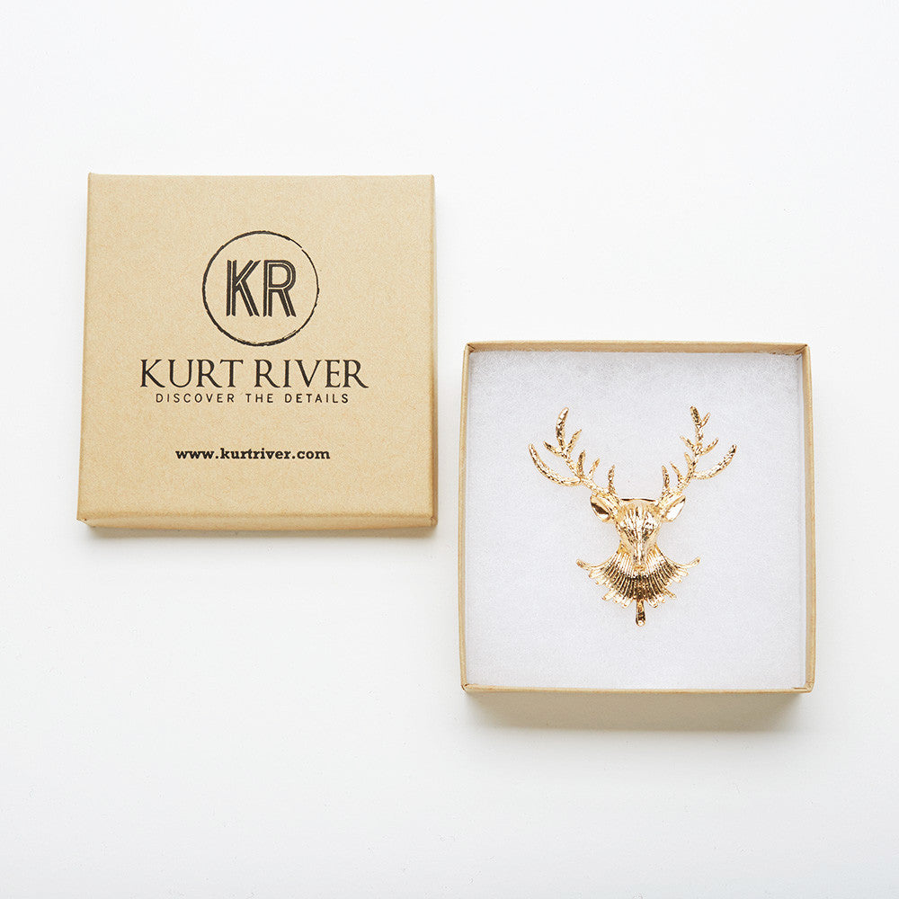 Golden Moose Pin