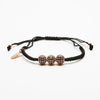 Black Braided Diamond Bracelet