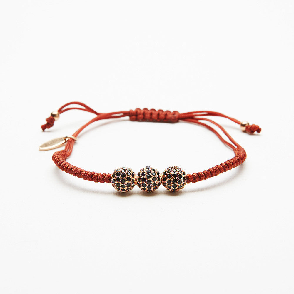 Brown Braided Diamond Bracelet