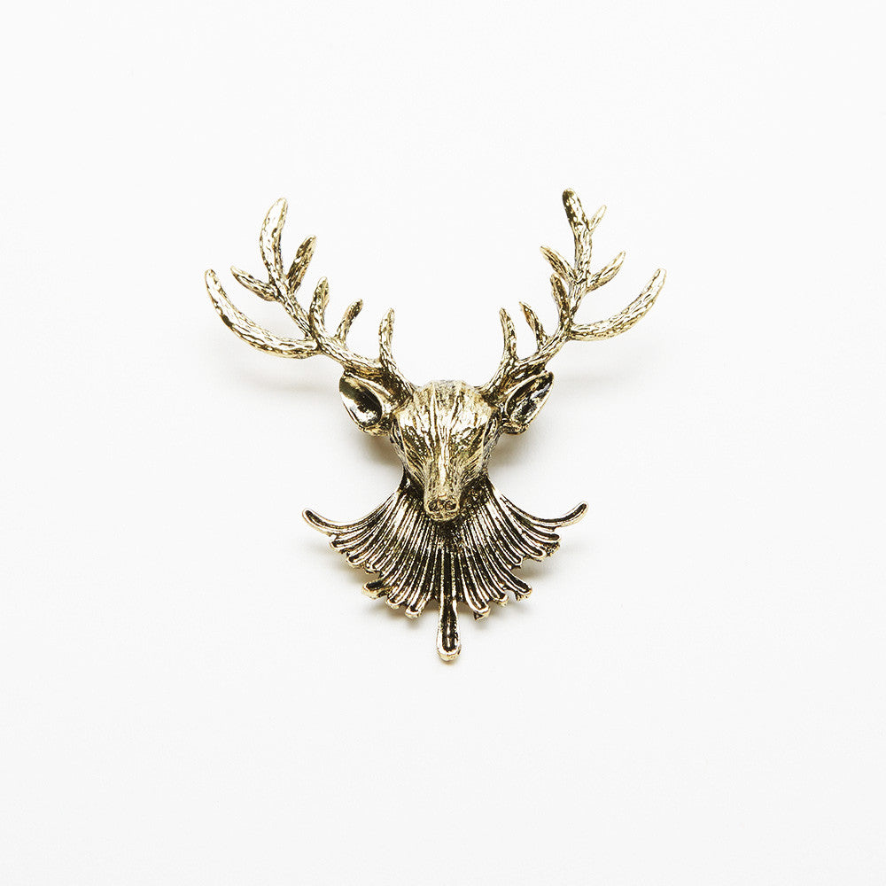 Bronze Moose Pin