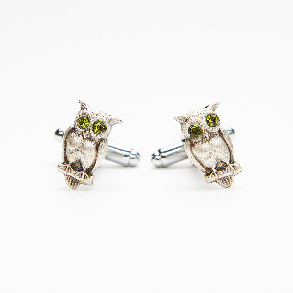 Green Owl Cufflinks