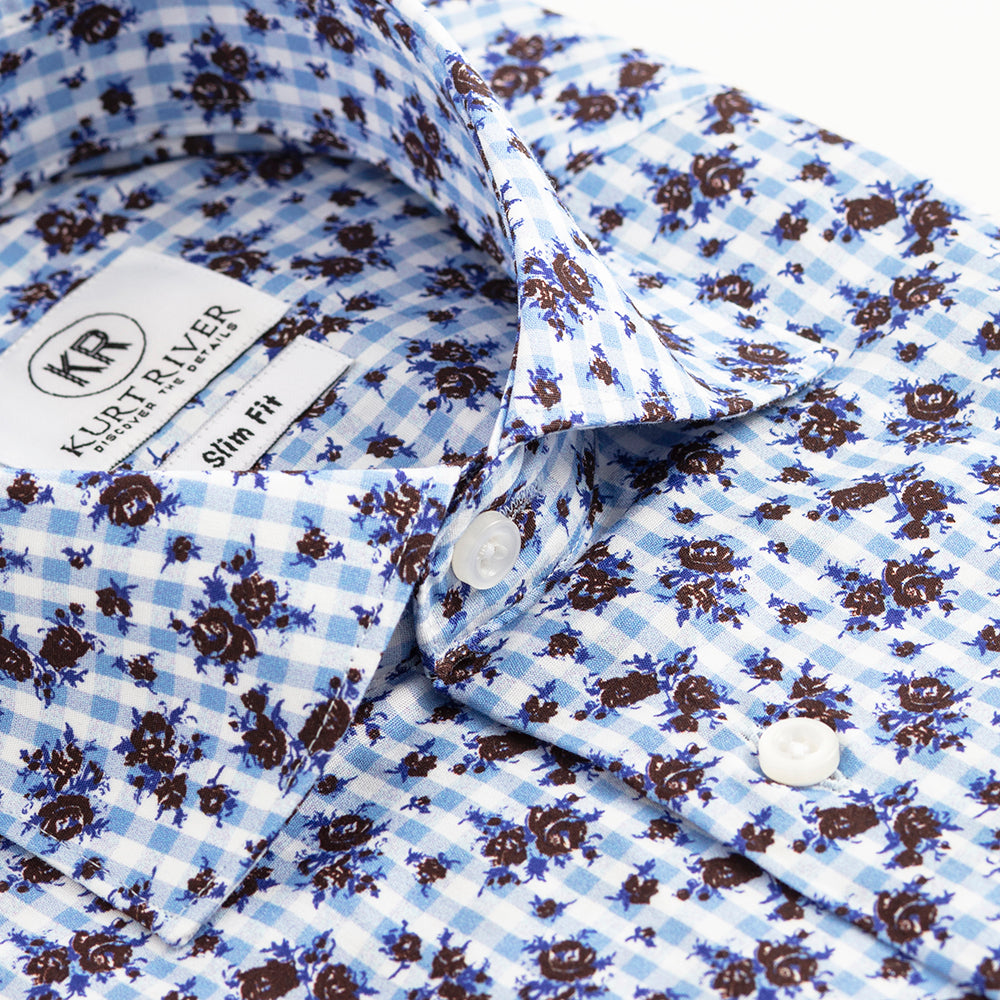 Blue Rose Spread Shirt