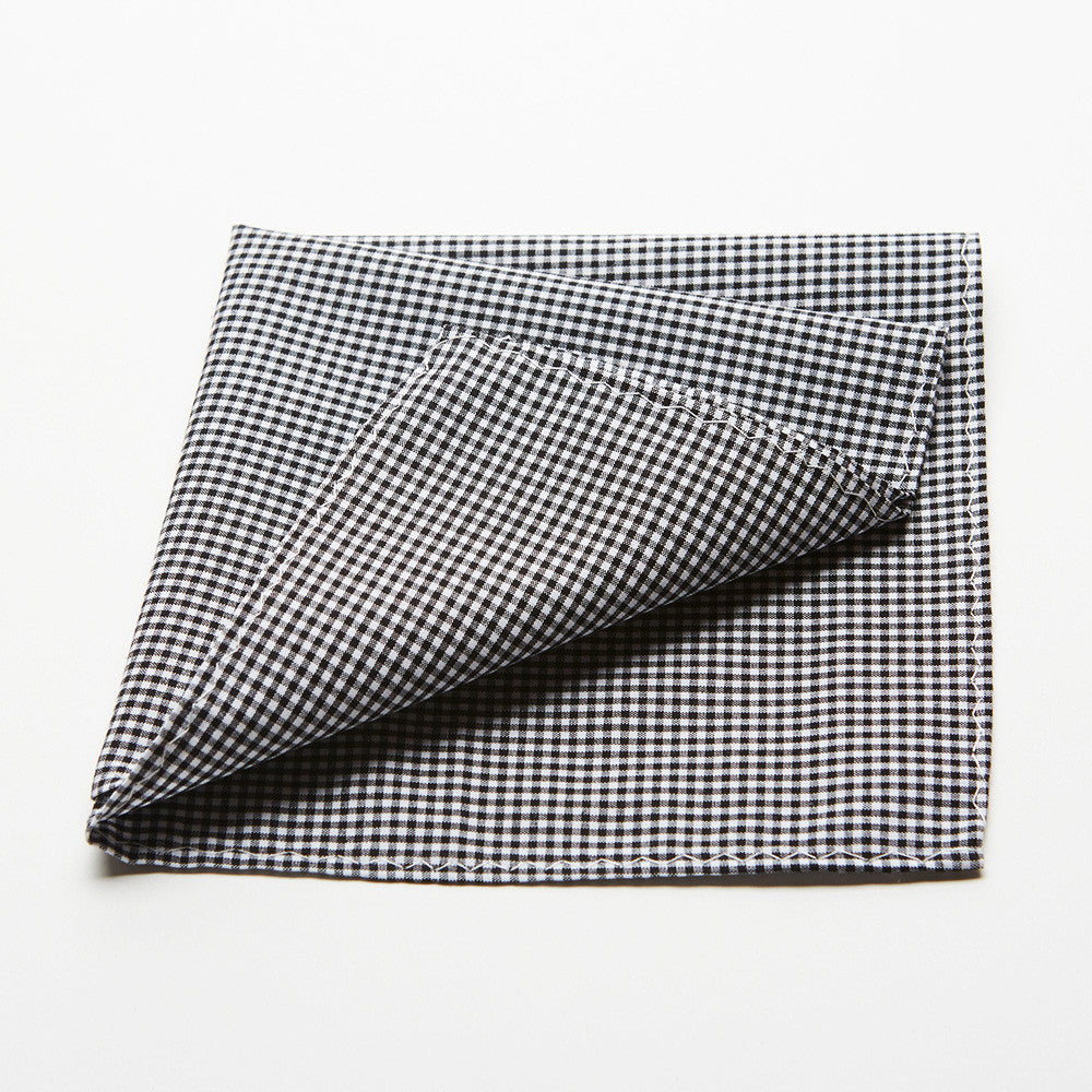 Black Plaid Pocket Square