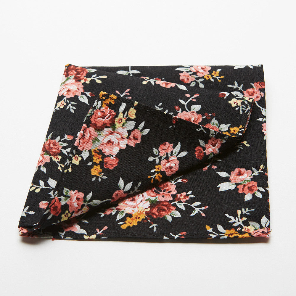 Cedar Floral Pocket Square