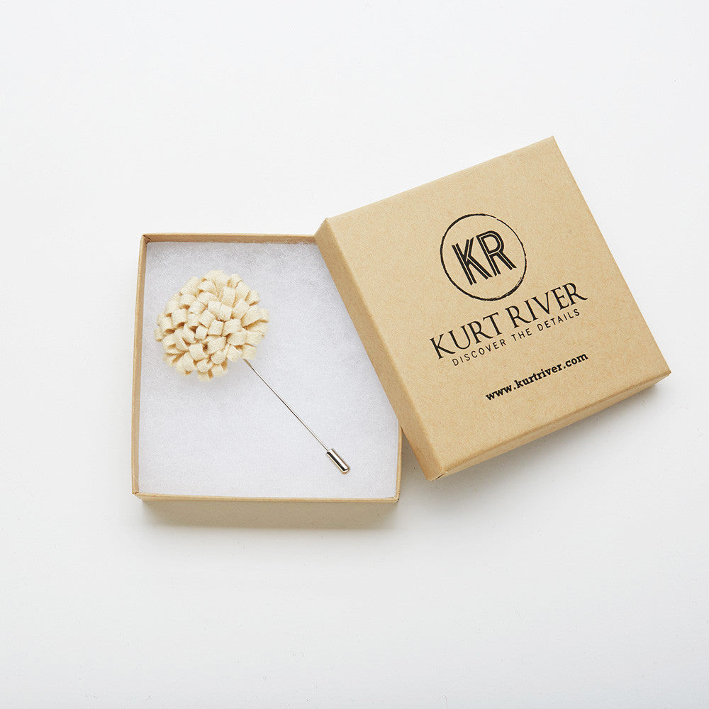 White Dandelion Pin
