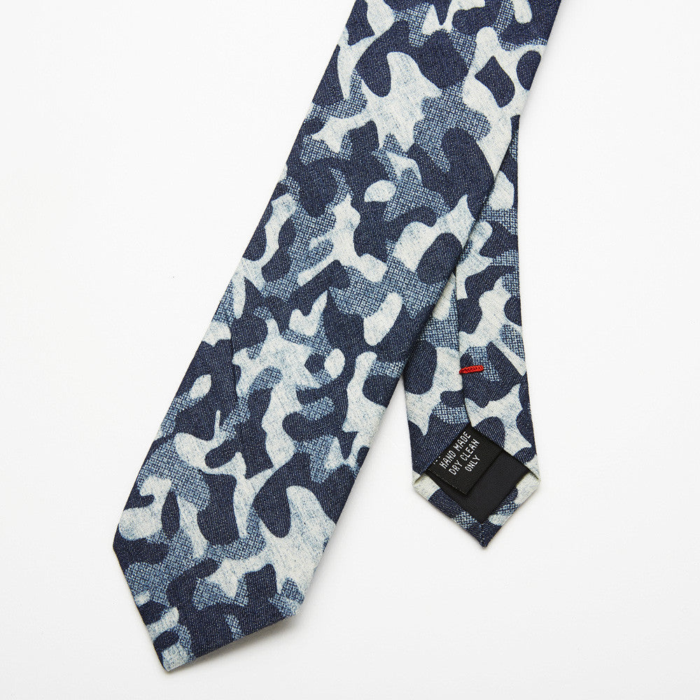 Force Blue Camouflage Tie