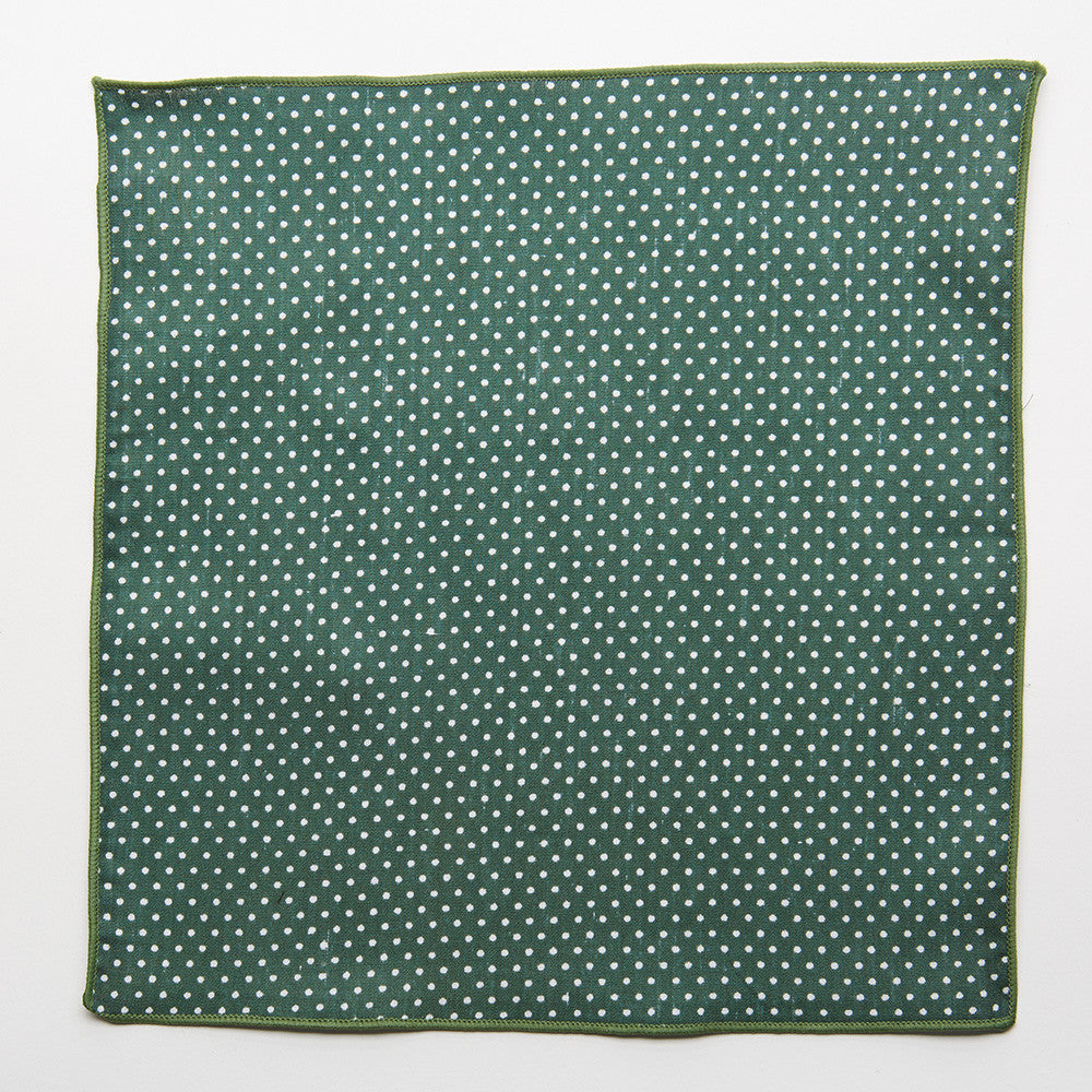 Castleton Green Dot Pocket Square