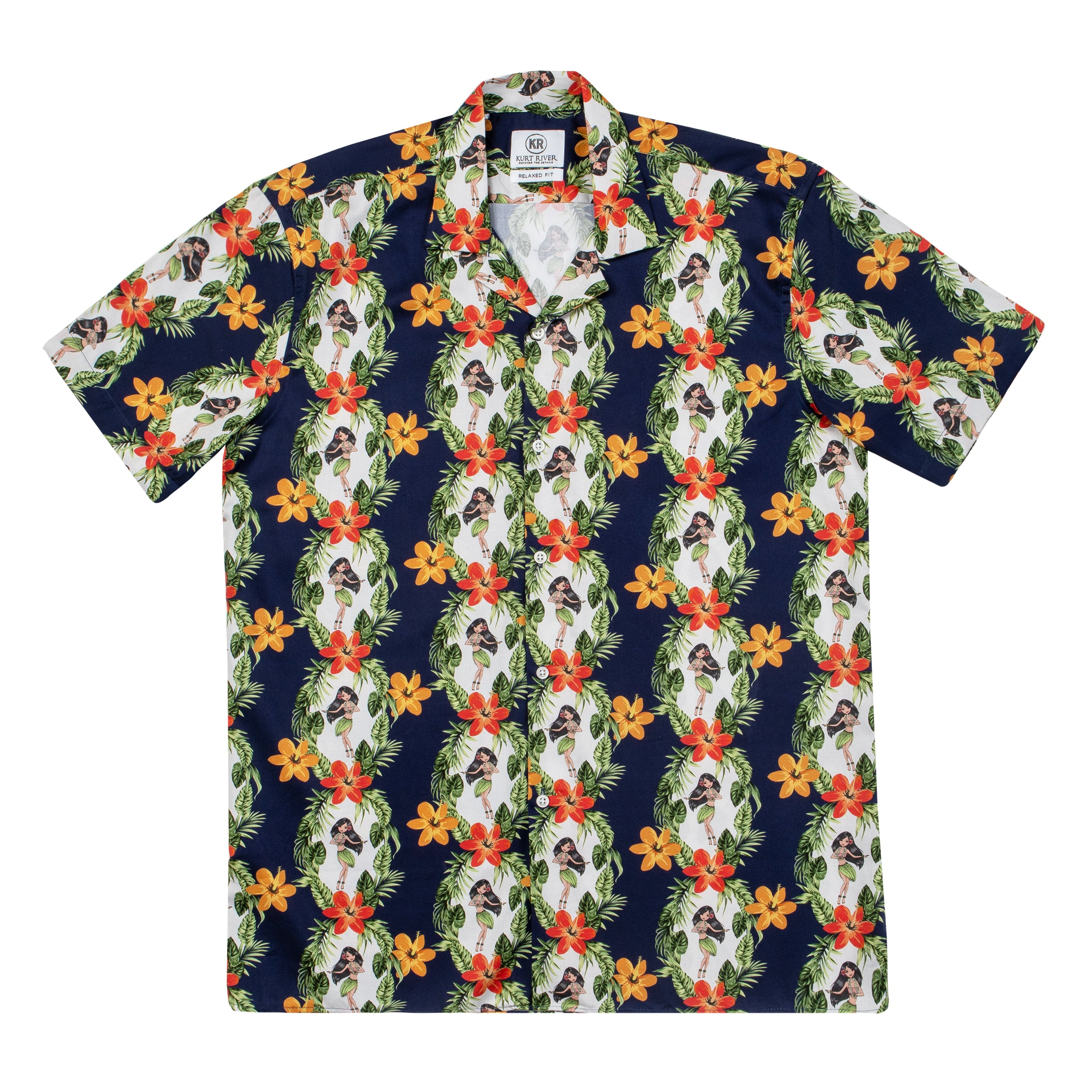 Hawaiian Blue Short Sleeve Shirt