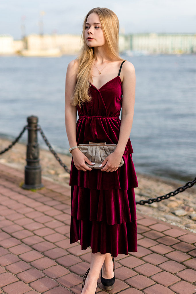 Stunning Velvet Holiday Dresses Under $100