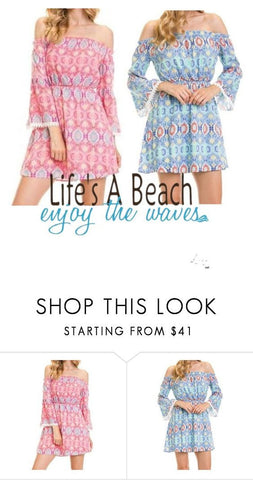 Life's A Beach Off The Shoulder Floral Print Dresses