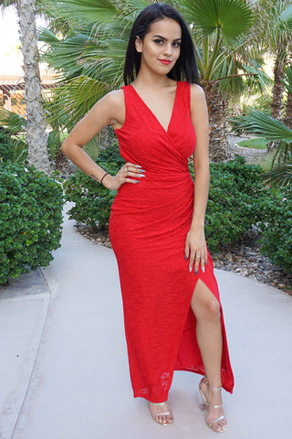 Red Special Occasion Maxi Dress - Red Special Event Dress