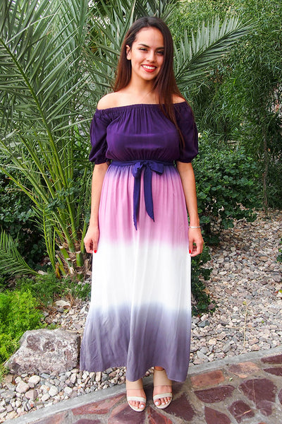 Gorgeous Ombre Maxi Dress - Cute OTS Dress - Flowy Maxi Dress