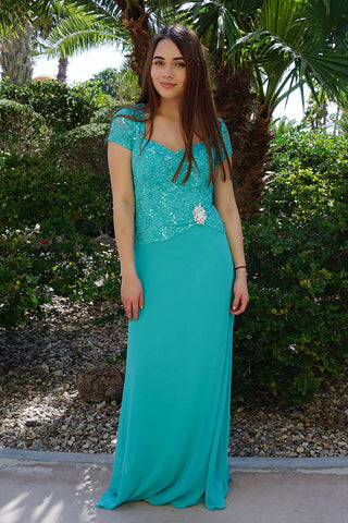 Modest Maxi Wedding Guest Dress - Mint Green Wedding Guest Attire