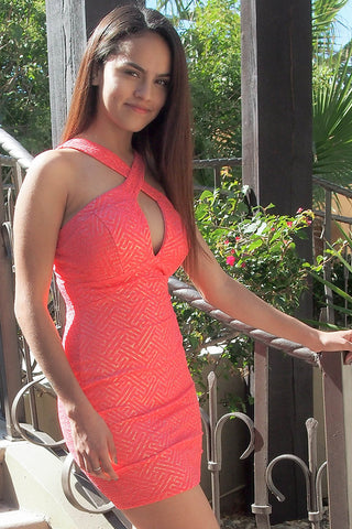 Sexy Coral Birthday Dress - Sexy Bodycon Birthday Dress
