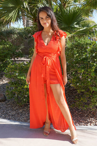 Flirty Red Romper For Vacation - Cute Vacation Clothes For Women