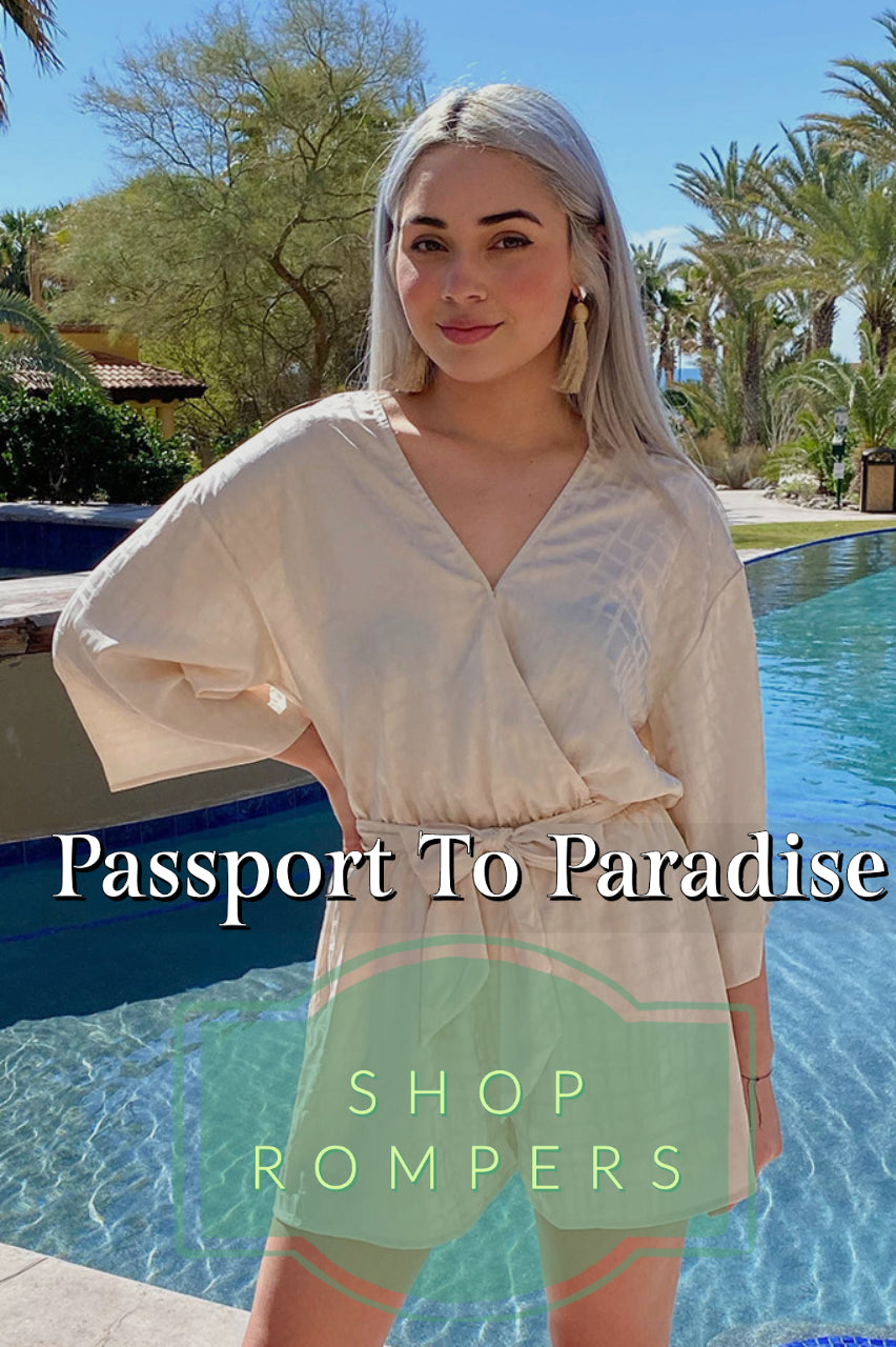 Passport To Paradise - Shop Rompers At Ledyz Fashions Boutique
