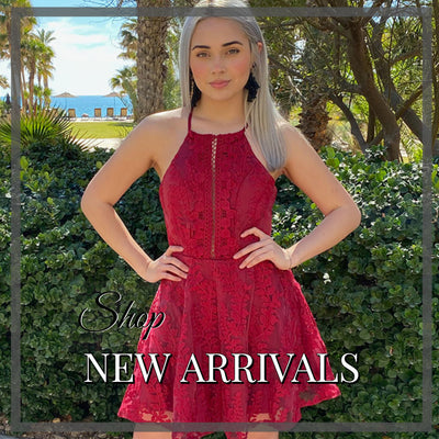 Shop New Arrivals - Red Dress - Holiday Dress