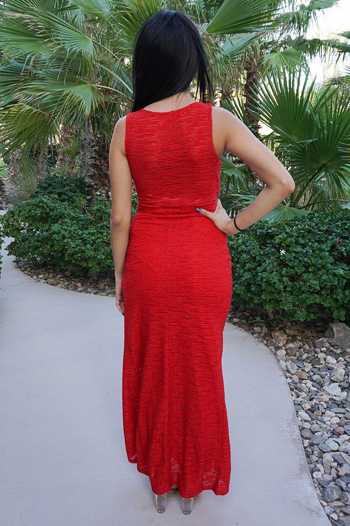All Eyes On You Glam Red Sleeveless Maxi Dress 3