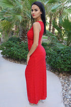All Eyes On You Glam Red Sleeveless Maxi Dress 2