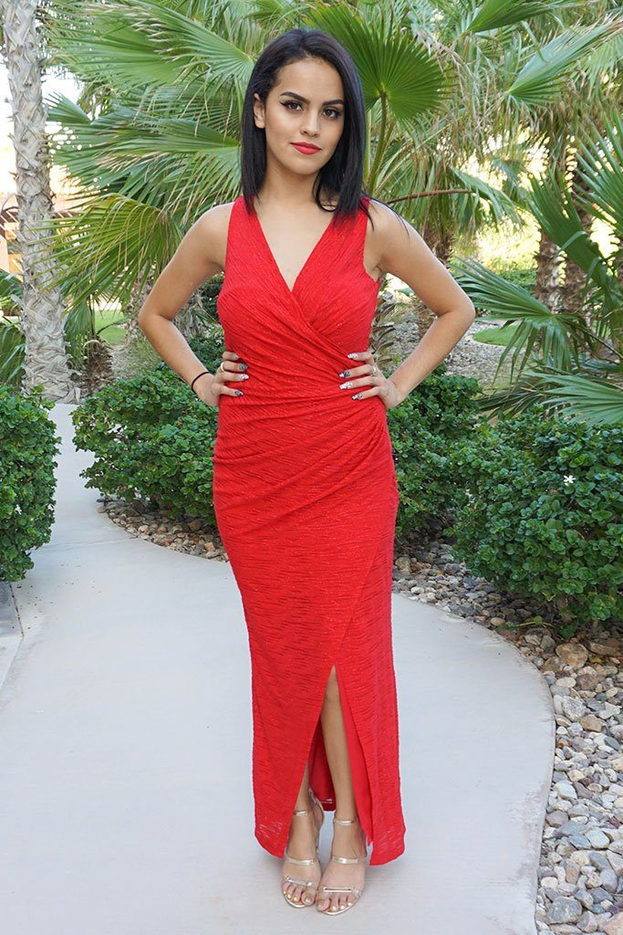 All Eyes On You Glam Red Sleeveless Maxi Dress 4