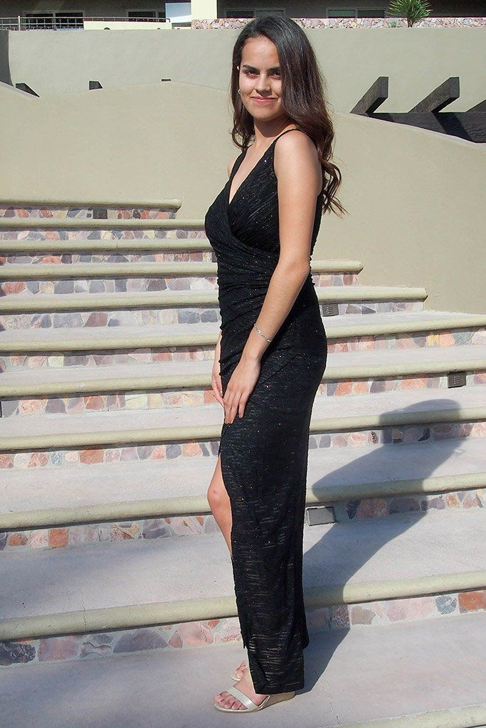 All Eyes On You Onyx Black Sleeveless Maxi Dress, womens long dress, side, Ledyz Fashions Boutique