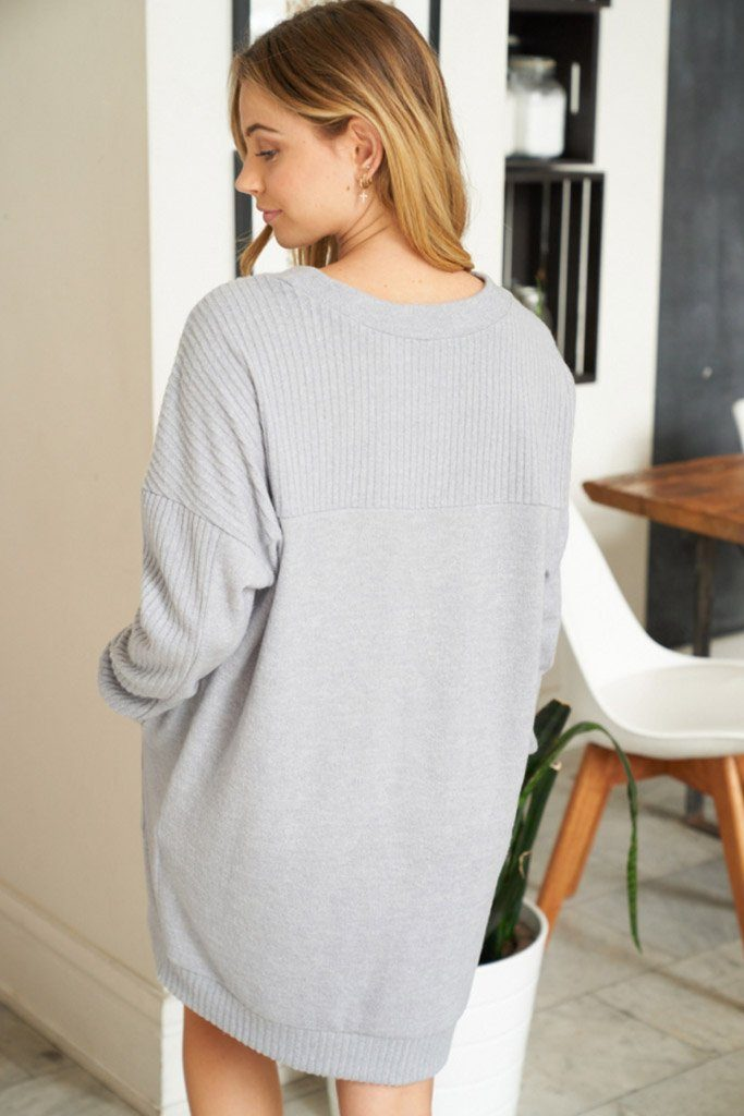 All Points To Chic Long Sleeve Sweater Dress 2
