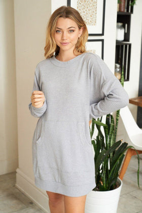 All Points To Chic Long Sleeve Sweater Dress 1