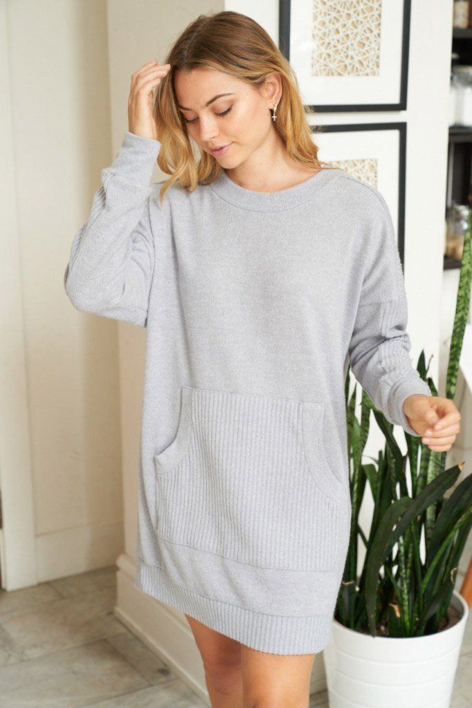 All Points To Chic Long Sleeve Sweater Dress 3