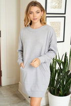All Points To Chic Long Sleeve Sweater Dress 4