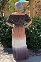 All She Wants Olive Ombre Off The Shoulder Maxi Dress 3