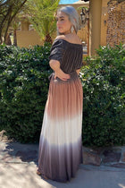 All She Wants Olive Ombre Off The Shoulder Maxi Dress 2