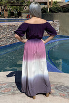 All She Wants Purple Ombre Off The Shoulder Maxi Dress 4