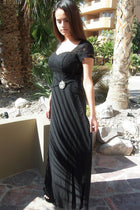 Always And Forever Black Sequin Lace Maxi Dress 2