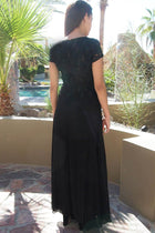 Always And Forever Black Sequin Lace Maxi Dress 3