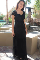 Always And Forever Black Sequin Lace Maxi Dress 1