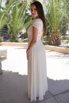 Always And Forever Cream Sequin Lace Maxi Dress 2