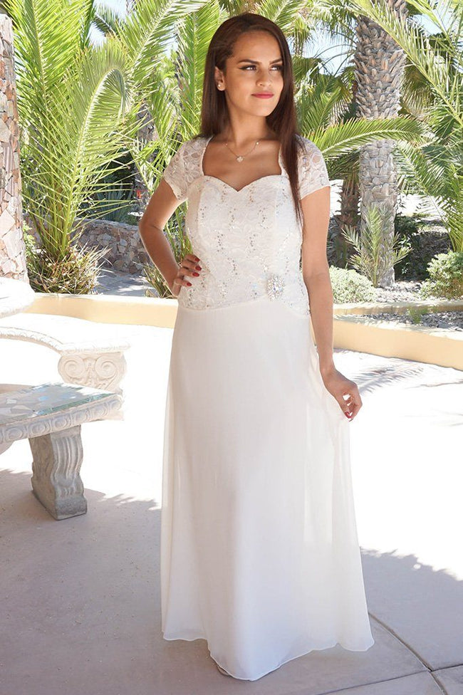 Always And Forever Cream Sequin Lace Maxi Dress 1