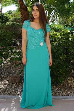 Always And Forever Mint Sequin Lace Maxi Dress 1