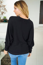 Anywhere With You Black Cut Out Top 2