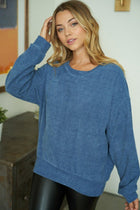 As You Please Blue Chenille Sweater 3