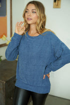 As You Please Blue Chenille Sweater 4