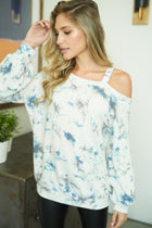 At A Glance Ivory Multi Tie Dye Top 1