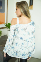 At A Glance Ivory Multi Tie Dye Top 2