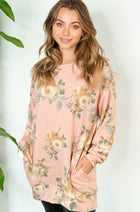 Be My Darling Pink Floral Print Tunic Top 1