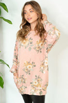 Be My Darling Pink Floral Print Tunic Top 4